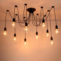 Indoor Decoration Multi-head Loft Light Pendant Lamp