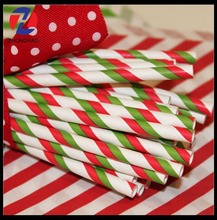 new arrived creative decorative craft elegant recycled customized printed Christmas party straws