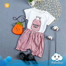 SS-847G whit t-shirts and pink pants wholesale lovely baby clothes india frock design for baby girl