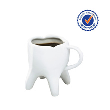 White ceramic molar bulk promotional coffee mug wholesale