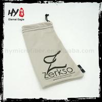 microfiber sunglasses drawstring pouch, cheap microfiber glasses pouch, full logo printing eyeglasses bag