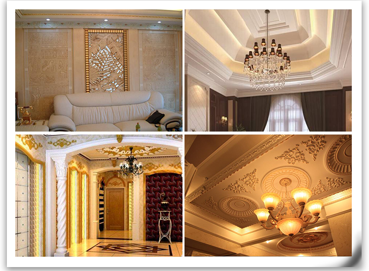 cheap manufacturers wall corner PU crown molding for interior decoration