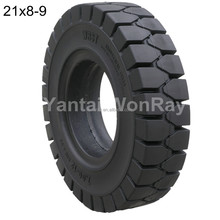 forklift tires 6.5-10, 21x8-9 solid rubber tire with good wear resistance