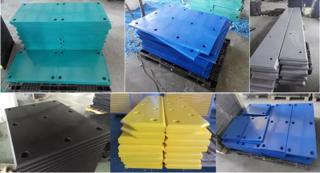 energy absorption uhmwpe face pad for dock fender