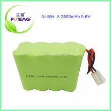 OEM a size 2500mah ni-mh type 9.6v rechargeable battery pack