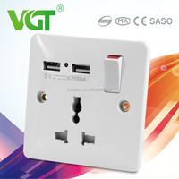 2.1A charge port 13A multi electric socket security