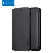 X-Level Trendy Design Deluxe Flip Embossed LOGO PU Leather Mobile Case for LG Nexus 5