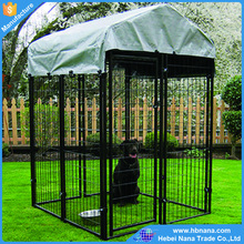 Folding heavy duty large dog kennels with door and top / large animal cage