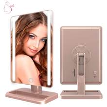 Touch Screen 360 Degree Free Rotation Cosmetic Lighted Makeup Mirror With LED Light