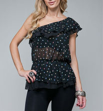 STYLE TBZ07-BLK: TIERED RUFFLED SUPER STAR BLACK TOP