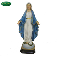 Custom polyresin mary religious statues home decoration