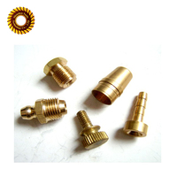 High precision lathe cnc machined brass screw parts