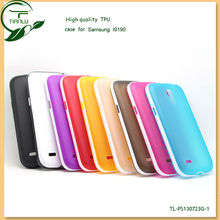 Hot selling colorful Soft TPU case For samsung s4 mini I9190 crystal case,various colors are available