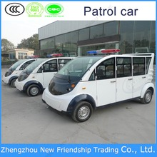 2016 hot selling High quality 8 seats enclosed metal-clad electric patrol car with doors in new cars/vehicles