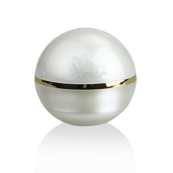 100g Pearl White Ball Shaped Cream Jar