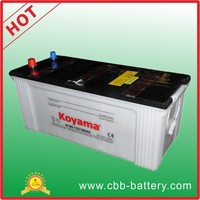 Factory price good quality dry charge truck battery N180- 180ah 12V