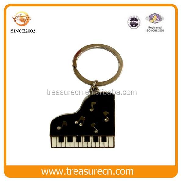 Custom Metal Keychains Wholesale Piano Shaped Key Chain