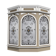 Customized anti-theft window grill luxury antique wrought iron window guard design