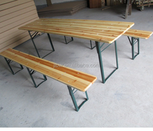 Folding Teak Root Wood Table Beer Table And Bench Picnic Camping Party Garden Furniture