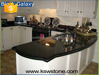 Absolute black galaxy granite kitchen countertop table top