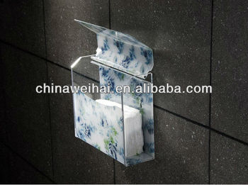 acrylic wall mounted tissue box holder