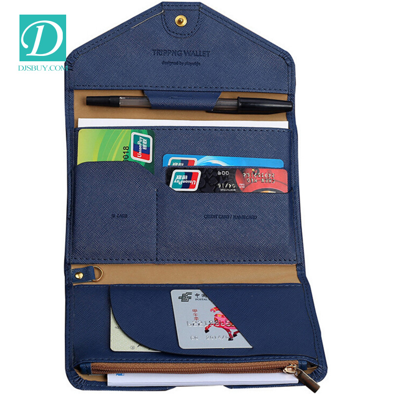 Wholesale PU Leather Passport Holder ID Card Holder Pen Holder Hard Passport Package