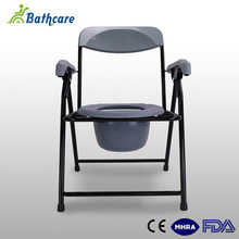 Chinese Supplier Steel Portable Folding Disable Toilet Chair With Bedpan