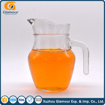 450ml glass pitcher With handle and spout
