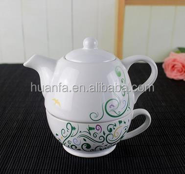 Customized arabic coffee pot tea pot & kettle for one tea cup and ceramic tea kettles