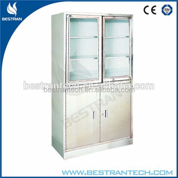 BT-AP004 Durable Hospital Trolley Stainless Steel Cupboard