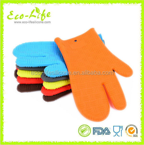 128G 3 Fingers Kitchen Oven Silicone Grip Mitt, Silicone Gloves