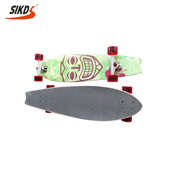27*8.0 inch 7 ply canadian maple cruiser skate board single kick skate board