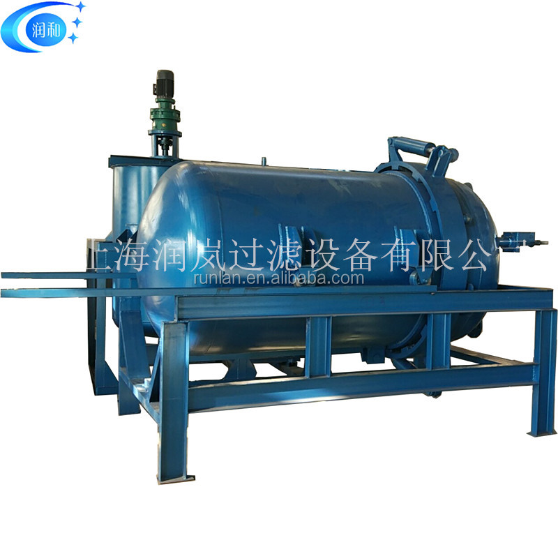 High efficiency pressure leaf filters horizontal plate filter for oil/chemicals/food industry