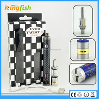 New variable voltage ecig 16.5mm diameter evod twist 3 m16 cheap 510 vip drip tips with factory price