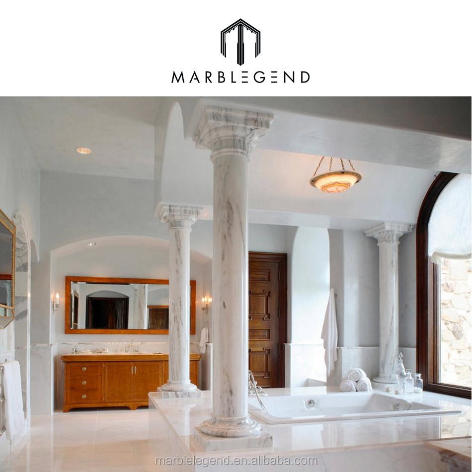 Indoor Pillars for hotel natural marble indoor pillars interior decorative