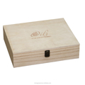 custom wooden square package box with logo and lid