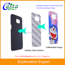 Blank Sublimation plastic cheap mobile phone case for Samsung Galaxy S7 edge