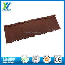 Lightweight colorful antique stone coated zinc metal roofing tile