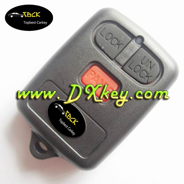 Factory price car key 3 button remote key with 315mhz for toyota vios remote key