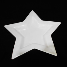 White Ceramic Christmas Decorations Star Shaped Plates