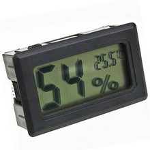 Mini digital cigar hygrometer with temperature display