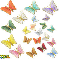 patches embroidery colorful high quality gold small butterfly iron sew on for coats baby girls clothes
