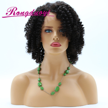 8A Grade Short Bob Kinky Curly Human Hair 130% Density Full Lace Wig
