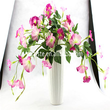 China factory directed artificial morning glory flowers for decration fabric cloth material