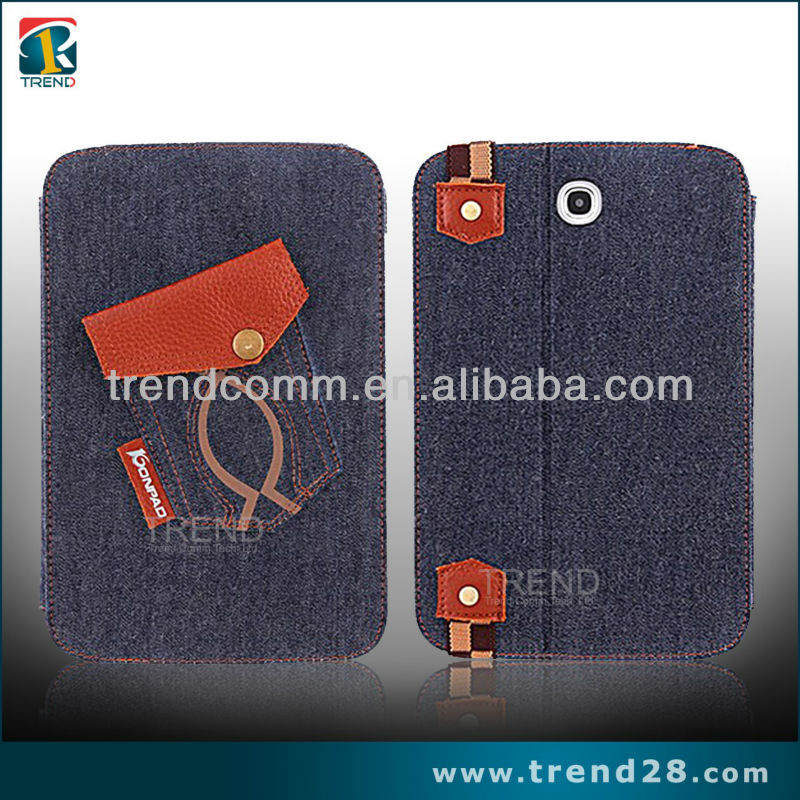 jeans style tablet leather cover for samsung galaxy n5100