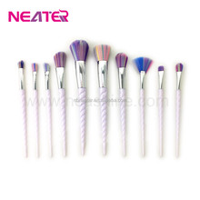 10 PCS Makeup Brushes Unicorn Diamond Powder Blush Highlight Concealer Eyebrow Brush