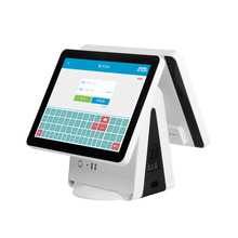 windows touch screen cashier machine with 5 wire resistive touch panel 15 Inch Dual Screen Cash machine / POS system
