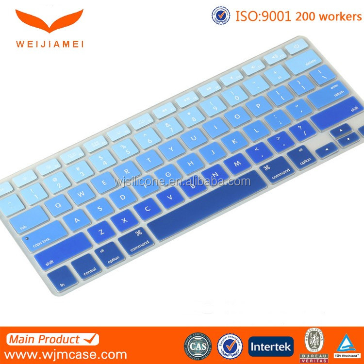 Precision fit ultra thin washable protect keyboard skin cover with high elastic silicone