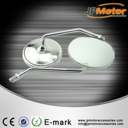 Chrome Universal Custom Motorcycle Cruiser Mirrors fit for 10mm high quality