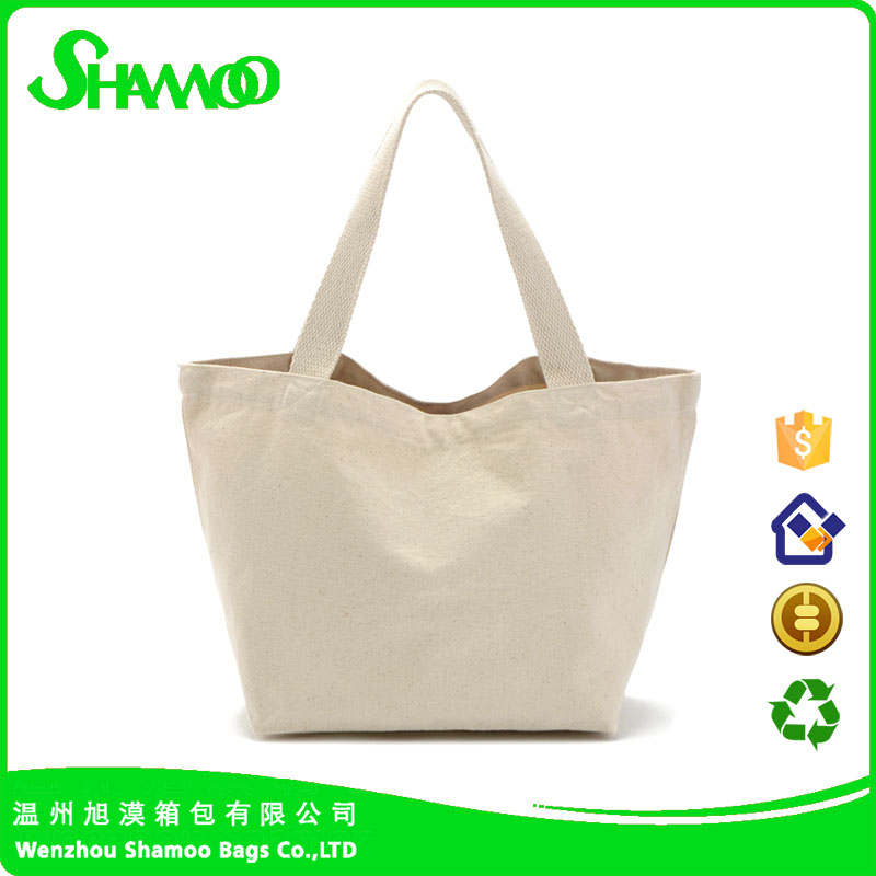 Canvas Material and Handled Style green cloth grocery bags